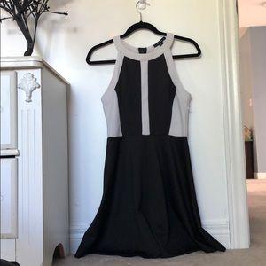 Forever 21 black And White Halter Neck Dress